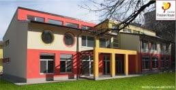 """Първа сертифицирана сграда в България по стандарт """"Пасивна къща"""" на Passive House Institute, Darmshtadt, Германия. Специална награда – плакет от конкурса """"Сграда на годината"""" 2015 год. , Солер архитекти"""